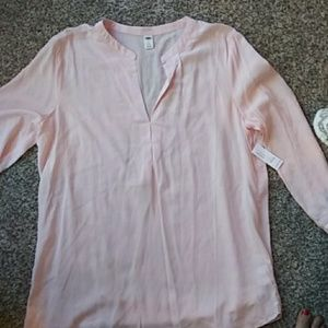 Women's Old Navy pink long sleeve blouse nwt